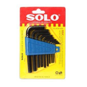 โซโล ประแจ หกเหลี่ยม อุปกรณ์งานช่าง 10 ชิ้น/ชุด ร่น 902BMM (สีดำ)