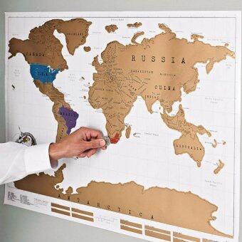 Scratch map แผนที่โลกขูดได้