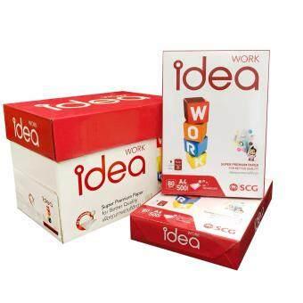 Idea Work กระดาษถ่ายเอกสาร A4 80แกรม (แพ็ค5รีม) ไอเดีย เวิร์ค