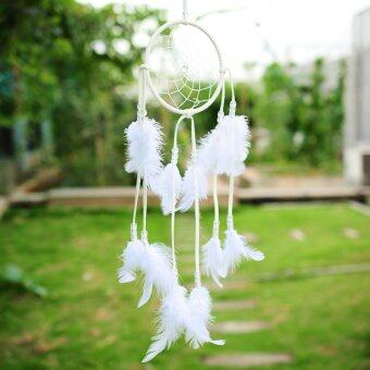 Harga India Style White Dream Catcher With feathers Hanging Living Room Home Decor (Intl)