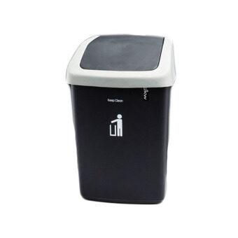 DKW ชุดถังขยะฝาสวิง ขนาด 50 ลิตร (สีดำ)