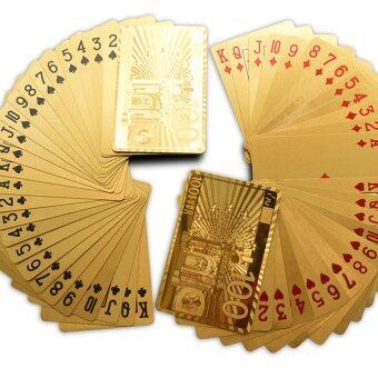 Gracefulvara ทองฟอยล์ไพ่ป๊อกไพ่-ยุโรป 100