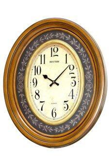 RHYTHM นาฬิกาแขวน ขนาดใหญ่ รุ่น CMG735NR06 - Brown