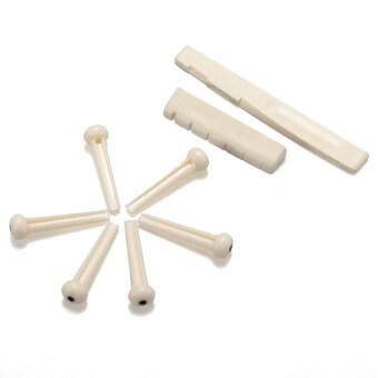 ชุด 1 นอตกีต้าร์อะคูสติกกระดูกสันหลังส่วนหมุดขาว