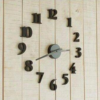 Top Class นาฬิกาติดผนังของแต่งบ้าน DIY 1412 - สีดำ