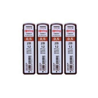 ไส้ดินสอ Rotring Tikky Hi-Polymer 0.5 2B แพ็ค 4