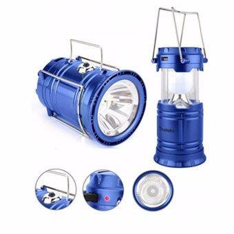 RECHARGEABLE ตะเกียงพลังงานแสงอาทิตย์ 3IN1 รุ่น HL-5800T (สีน้ำเงิน)