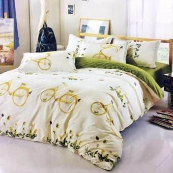 Lily ผ้าปูที่นอน 6 ฟุต 5 ชิ้น + ผ้านวม เกรดเอ รุ่น PR083