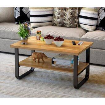 Asia โต๊ะกลางโซฟา โต๊ะกาแฟ 80 ซม. รุ่นลินลี่ โครงเหล็ก