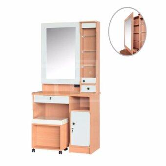 RF Furniture โต๊ะแป้ง รุ่นDT0801 (สีบีช/ขาว)