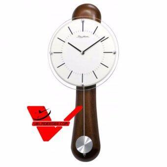 RHYTHM Japan นาฬิกาแขวน ตัวเรือนไม้แท้ แนววินเทจ รุ่น CMP525NR06
