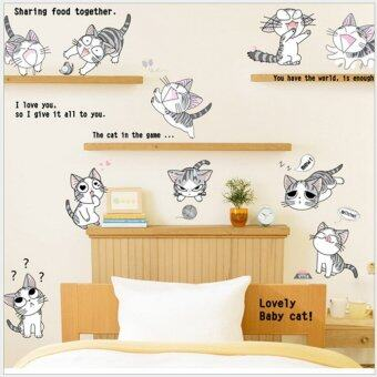 Harga Cat Wall Stickers (Black)