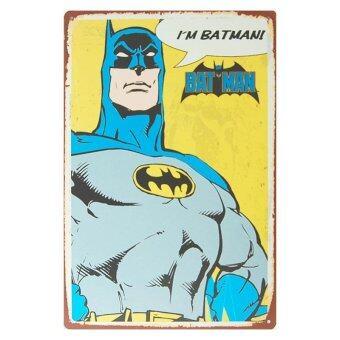 ป้ายสังกะสีวินเทจ Batman : I'm Batman!