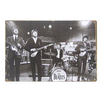 MonkeyAct ป้ายสังกะสีวินเทจ The Beatles (1964)