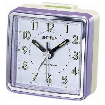 Rhythm นาฬิกาปลุก รุ่น CRE210NR12 - Pearl Purple