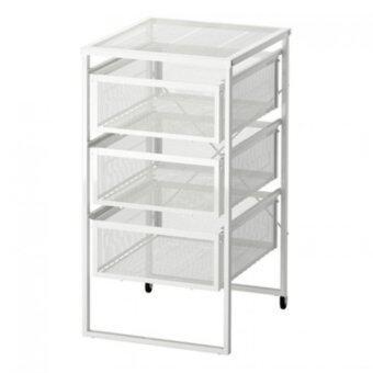 FIN-FIN ตู้ลิ้นชักสีขาว 30x56 cm.