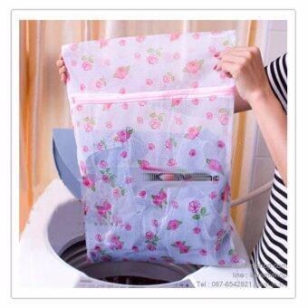ถุงซักถนอมผ้า ขนาด 60 ซม แพค 2ชิ้น (ขาวลายชมพู) Bolsa Lavadora Washer Bag 60 cm- 2pic