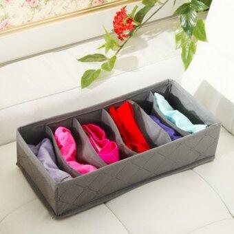 3ใน1 กล่องถุงเท้าเสื้อในกางเกงในเก็บกระเป๋าออแกไนเซอร์แบมบูชาร์โคลเคส (image 4)