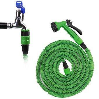 Elastic Hose สายยางยืดหด-in-หัวฉีดน้ำ 15เมตร/50FT จะขยายและสัญญา (สีเขียว)