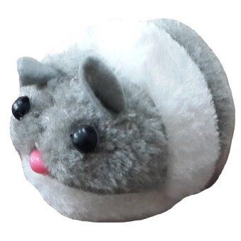 ของเล่นแมว ตุ๊กตาหนูสั่น วิ่งได้ (สีเทา)