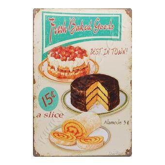 ป้ายสังกะสวินเทจ Fresh Baked Goods Best in Town!