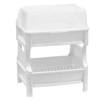 Picnic ที่คว่ำจาน 2 ชั้น (สีขาว) (image 1)