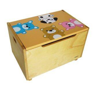 Tano Pet toy box กล่องเก็บของเล่นลายสัตว์น่ารัก - สีส้ม