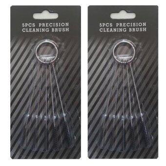 ชุดแปรงทำความสะอาดปืนพ่นสี 5pcs (2ชุด) Airbrush Cleaning Brushes