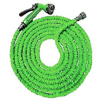 iBettalet สายยางฉีดน้ำยืดได้ 3 เท่า พร้อมหัวล็อคก๊อกฉีดน้ำปรับได้และข้อต่อ ยาว 30 เมตร / 100 ฟุต (สีเขียว)