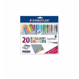 ปากกาไตรพลัส ไฟน์ไลนเนอร์ ชุด20สี+สีนีออน6สี ฟรี