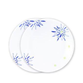 Corelleจานอาหารขนาด 10 นิ้ว 2ชิ้น - C-03-110-BDL-2สีน้ำเงิน