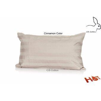 CB Cotton หมอนไมโครแอร์บอล สำหรับเด็กขนาด 12x20 นิ้ว เกรดโรงแรม 5 ดาว แถมฟรี ปลอกหมอน 700 เส้น ลายริ้ว ( สีตามรูป )