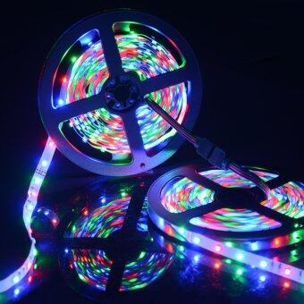 Sunix 2x5M Flexible LED Strip Light Kit Non-waterproof SMD 3528 600LEDs RGB Color Changing with 24 Key IR Controller and Power Supply (image 3)