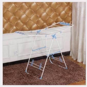 Asia ราวสแตนเลสตากผ้า 1.5 เมตร รุ่นพับได้ สีฟ้า-ขาว