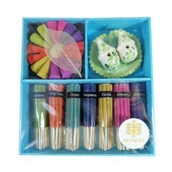 Aromdee premuim incense : ธูปหอมอโรมา กำยานหอม บรรจุในกล่องกระดาษสา สวยงาม