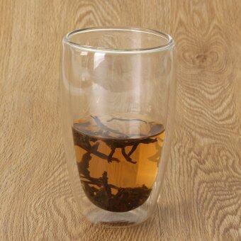 ความร้อนความต้านทานสูงแก้วบอโรซิลิเกตผนังสองถ้วยกาแฟแก้ว 450 มล.