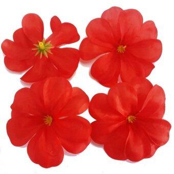 Dokpikul-หัวดอกลีลาวดี ดอกไม้ผ้า ประดิษฐ์ ขนาดเส้นผ่าศูนย์กลาง 8ซม แพค 100ดอก.-สีแดง