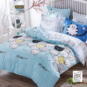 Pillow Land ผ้าปูที่นอน ชุดผ้านวม เกรด A 6 ฟุต 6 ชิ้น - NY 102