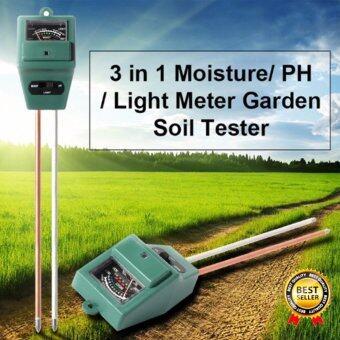 PH Moisture Meter เครื่องวัดความชื้น ค่า PH และ ความสว่าง 3 in 1 Soil PH Meter PH Moisture Meter เครื่องวัดค่า PH ความเป็นกรด-ด่างความชื้น และความสว่าง 3 in 1 Soil PH Meter