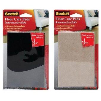Scotch® Floor Care Pads สักหลาดกาวในตัว ชนิดแผ่น 100x150 มม. *(2 ชิ้น)