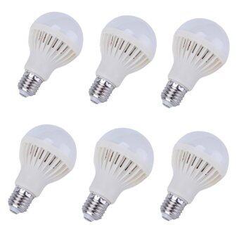 Energy LED หลอดแอลอีดี ประหยัดไฟ ชนิดเกลียว E27 หลอดLED 5w (สีขาว)แพ็ค 6ชิ้น