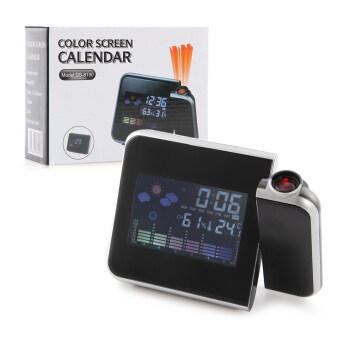 นาฬิกาจอแอลซีดีโปรเจคเตอร์หลากหลายการใช้งานพร้อมบอกอุณหภูมิ