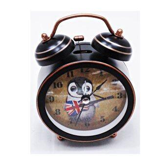 iBettalet นาฬิกาปลุก นาฬิกาตั้งโต๊ะ สไตล์วิเนเทจ ( ลายนกฮูก ) รุ่น AY8001