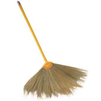 papamami Broom Grass ไม้กวาดดอกหญ้าด้ามพลาสติก (1อัน)