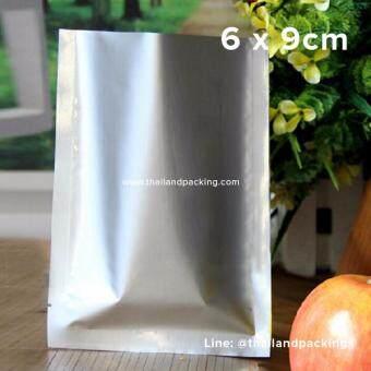 ซองซีล 3 ด้าน เนื้อพลาสติกเงา สีเงิน ขนาด6x9cm