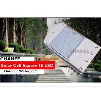 CHANEE โคมไฟพลังงานแสงอาทิตย์ โซล่าเซลล์ 15 LED + พร้อมขายึด (เเสงขาว)