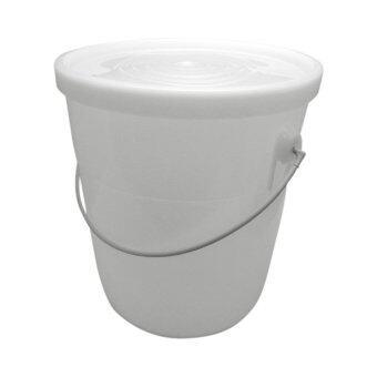 Crown ถังน้ำอเนกประสงค์สีขาวพร้อมฝาปิดขนาด22ลิตร