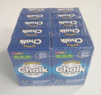 Mungyo ชอล์กไร้ฝุ่น-ขาว Dustless Chalk (1 แพ็ค 10 กล่อง)