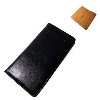 Thai Style สมุดทอนเงินแบบหนีบสลิปหนีบเงินธนบัตรได้ สีดำ