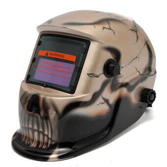 ใหม่โปร/หน้ากากเชื่อมพลังงานเสียงเข้มหมวกนิรภัยอัตโนมัติ MIG ไล่ฟาด